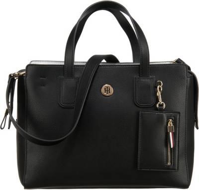 TOMMY HILFIGER, CHARMING TOMMY SATCHEL Handtaschen, schwarz