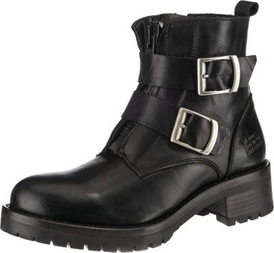 Buffalo Billige Damen Boots Biker Boot Schwarz