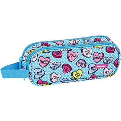 Schlampermäppchen 2 Zipper Sweet Heart Blue