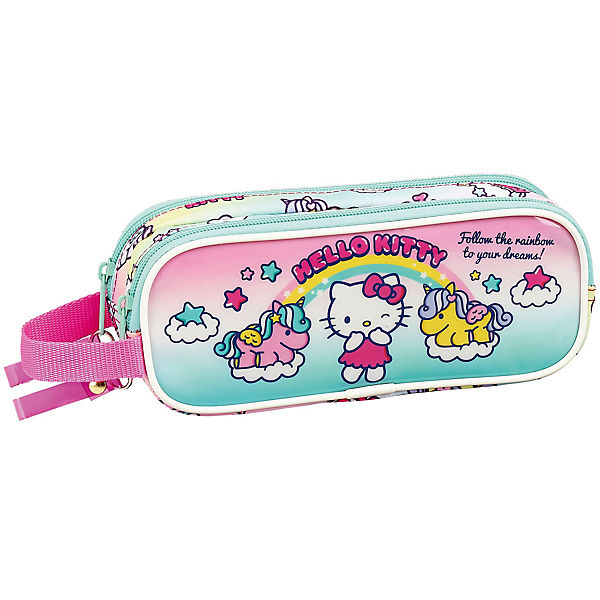 Schlampermäppchen 2 Zipper Hello Kitty Candy Unicorns