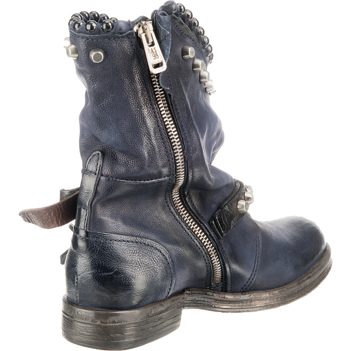 A.S.98, Biker Boots, dunkelblau