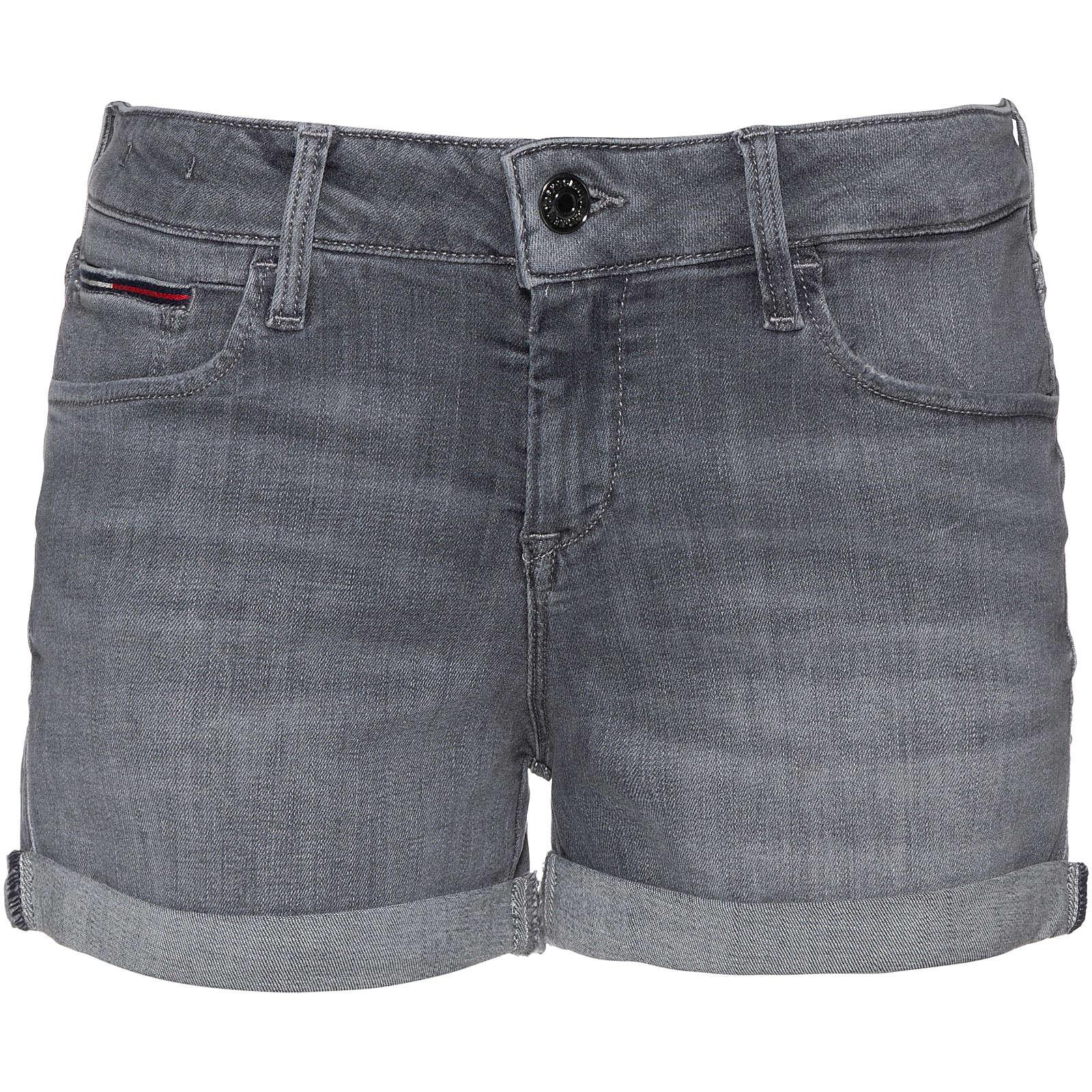 Tommy Jeans Jeansshorts Jeansshorts grau Damen Gr. 30