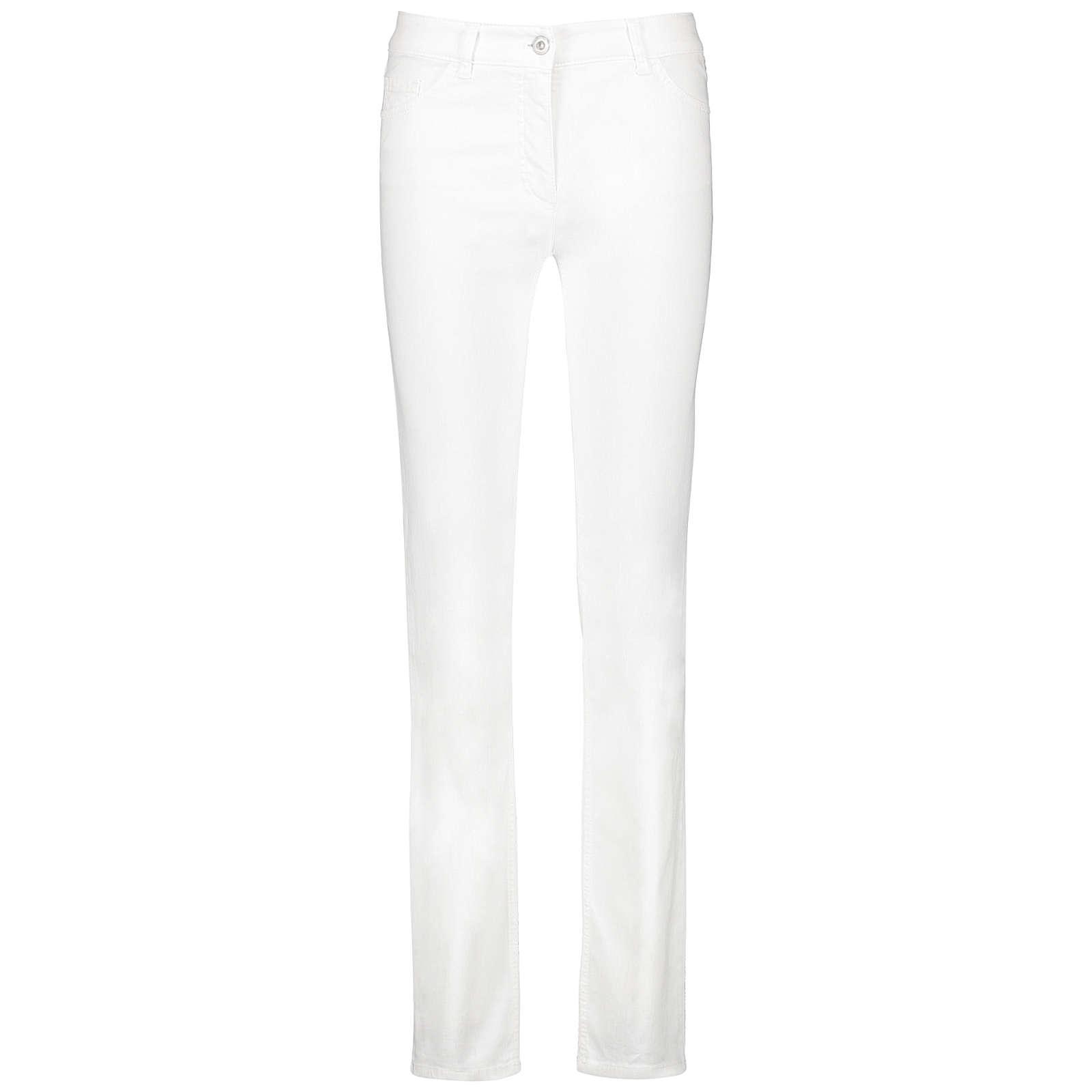 Gerry Weber Hose Jeans lang 5-Pocket Jeans Straight Fit Romy weiß Damen Gr. 46