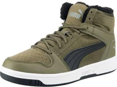 PUMA, Kinder Sneakers High REBOUND LAYUP FUR SD V PS, schwarz