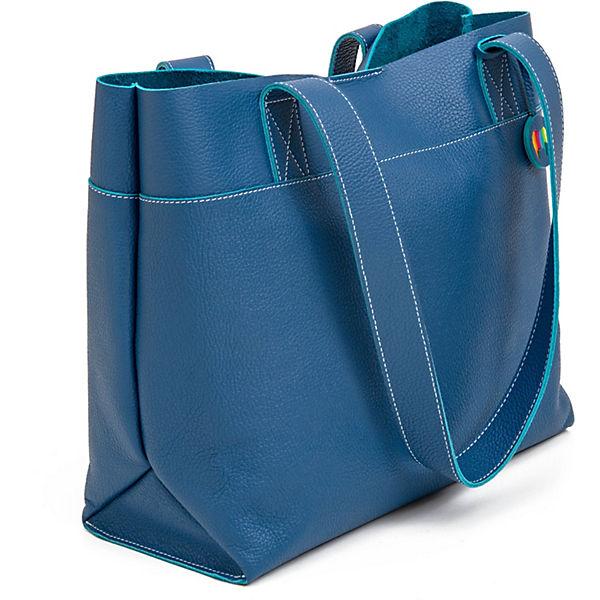 Tasche 32 Cm Leder Vancouver Shopper Blau Mywalit bfgy6vY7
