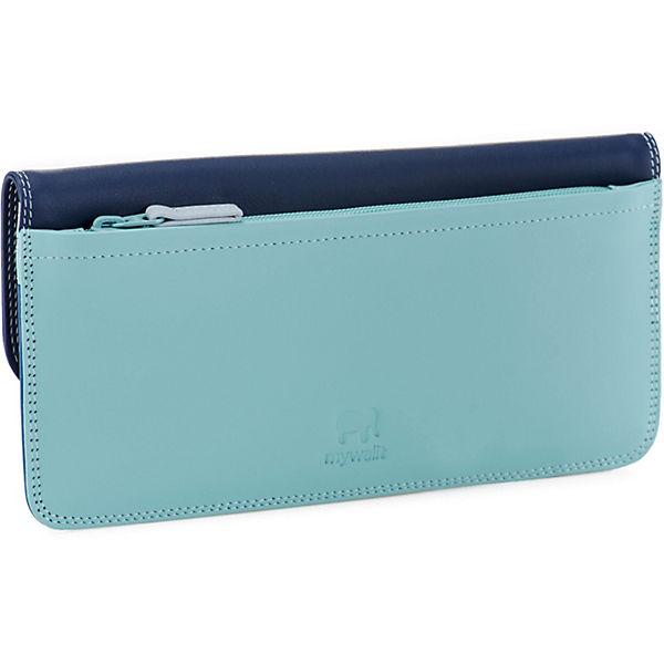 Flapover Simple Leder Blau Mywalit Cm 19 Wallet Geldbörse nX0kP8wO