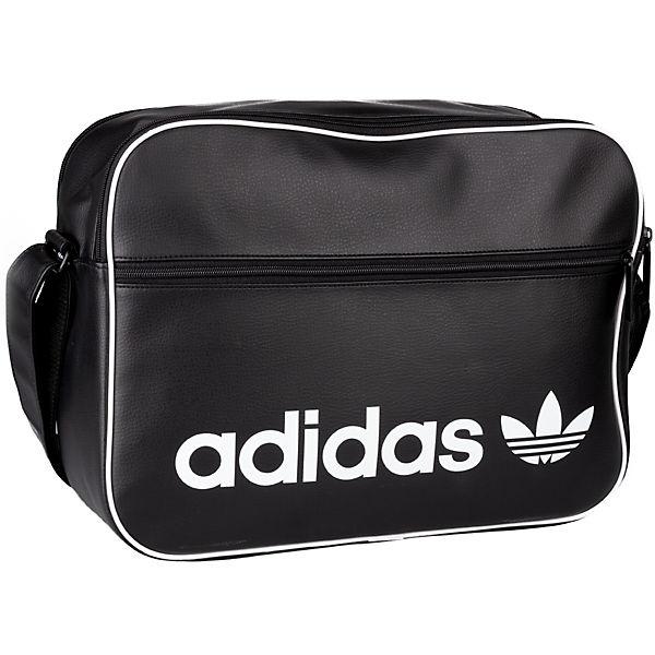 Adidas Taschen Vintage Schwarz Bag Originals Umhängetaschen Airliner koffer rucksäcke kOuPiXZ