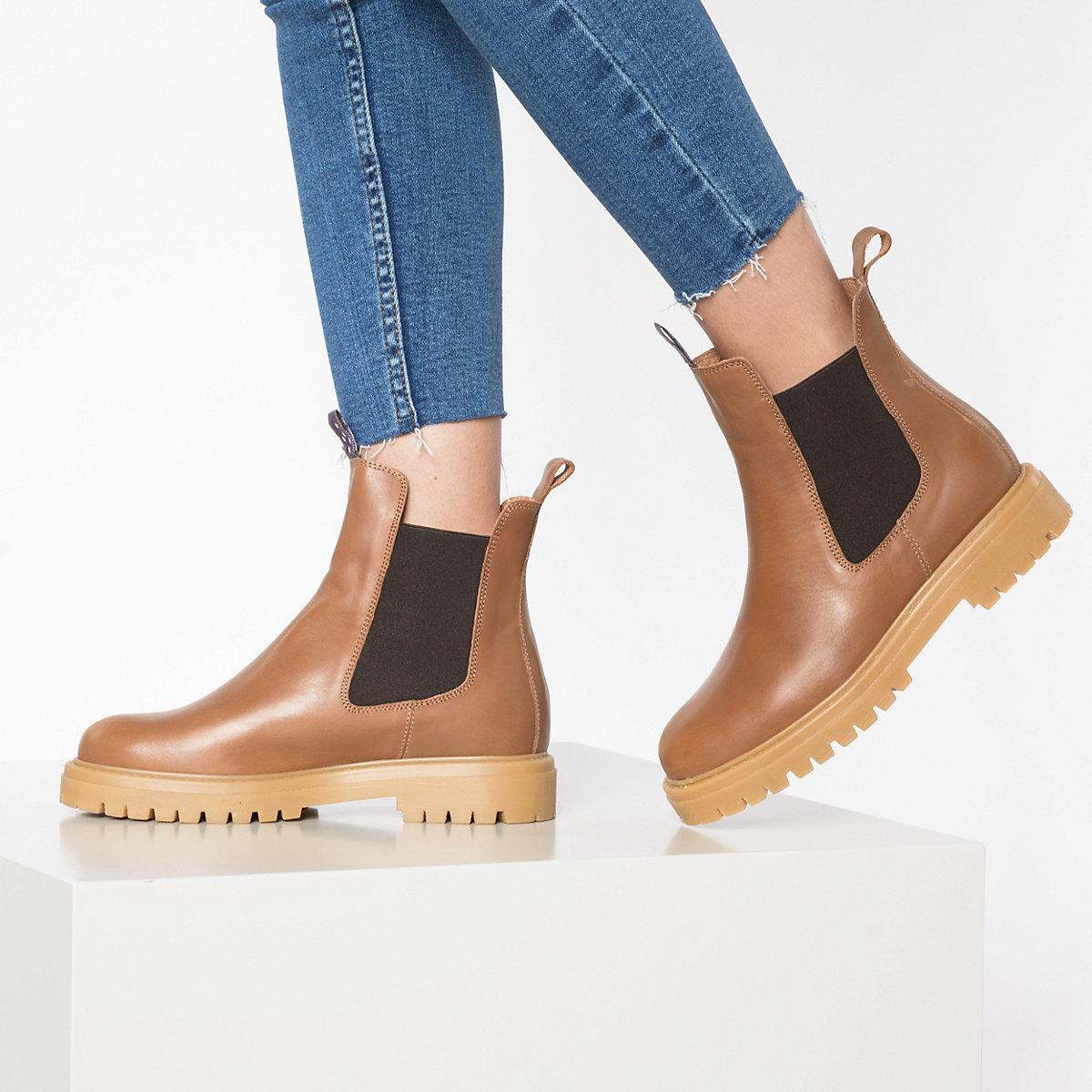 Jolana & Fenena, Chelsea Boots, Cognac