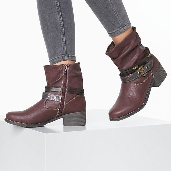 Jane Klain, Biker Stiefel, dunkelrot  Gute Qualität beliebte Schuhe