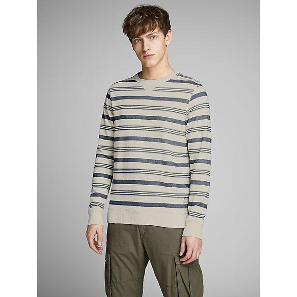 Jackamp; Gestreiftes Jones Sweatshirt Premium Weiß Sweatshirts Y7gvb6fy
