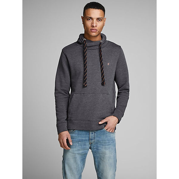 Sweatshirts Neck Jackamp; Jones Sweatshirt High Grau QBoeWEdrCx
