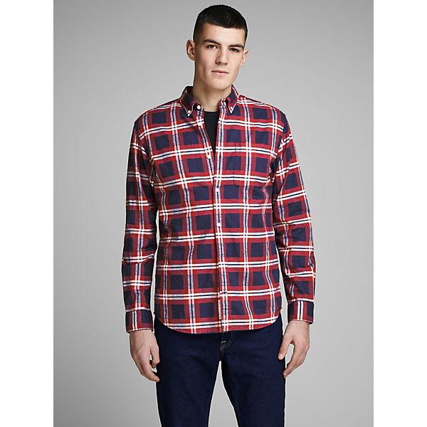 Jackamp; Langarmhemden Jones Rot Slim Hemd Karo Premium Fit WEDeH9Y2I