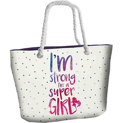 "Strandtasche ""I'm strong, I'm a Super Girl"""