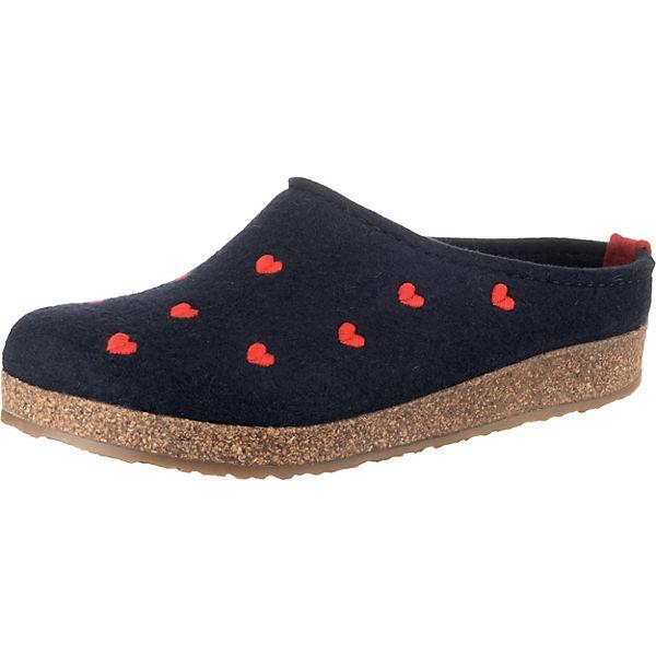 Erstaunlicher Preis HAFLINGER Cuoricini Pantoffeln dunkelblau