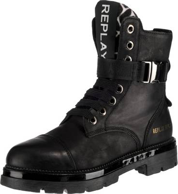 Replay Damen Biker Boots 681600 (Schwarz)