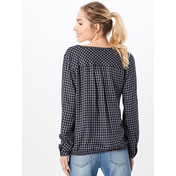 Bluse Blouse Tailor With Turn Weiß Check up Langarmblusen Tom thCsxQdr