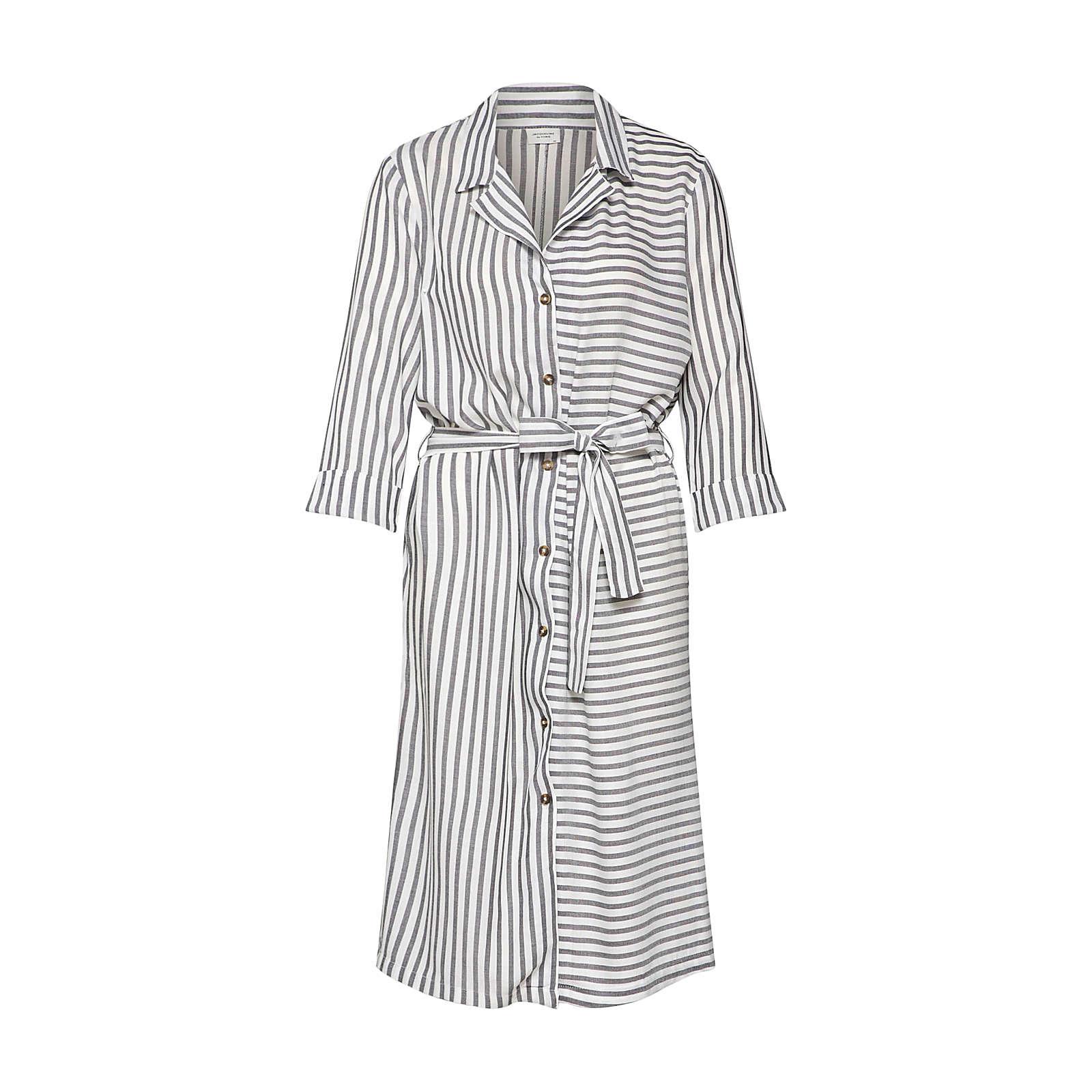 JACQUELINE de YONG Blusenkleid Blusenkleider weiß Damen Gr. 36