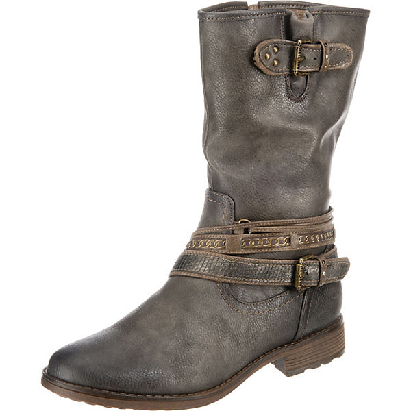 Erstaunlicher Preis MUSTANG Klassische Stiefel grau