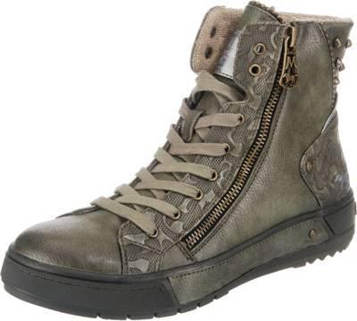 Mustang Herren Sneaker High Braun Gr. 42: : Schuhe