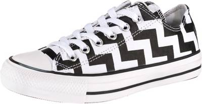 CONVERSE, Chuck Taylor All Star Glam Dunk Sneakers Low, schwarzweiß