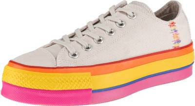 CONVERSE, Chuck Taylor All Star Lift Rainbow Sneakers Low, weiß
