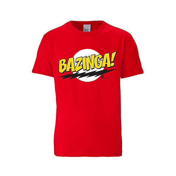 Mit shirt Coolem frontdruck Bazinga T Logoshirt® shirts Logoshirt Rot T YyIf7mvbg6