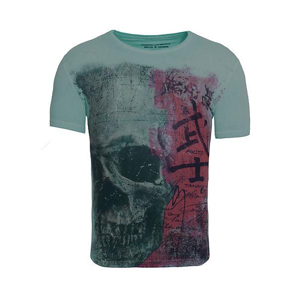 Akito shirt Skull T T Mit Grün Großem shirts Japan Tanaka Druck yvOP8nmN0w