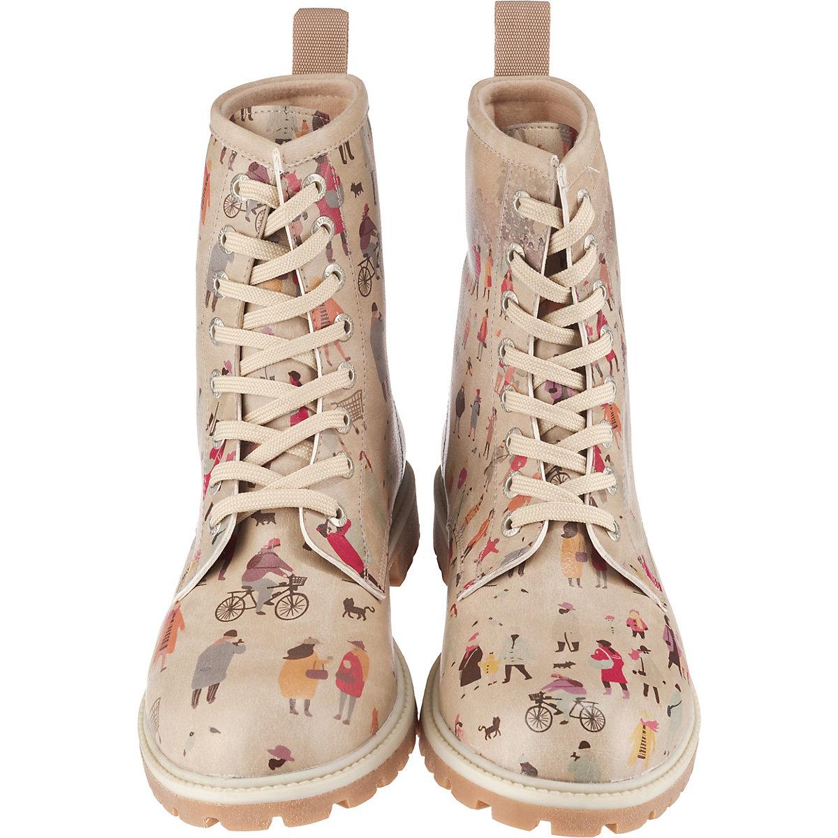 Dogo Shoes, Snow Square Schnürstiefel, Mehrfarbig