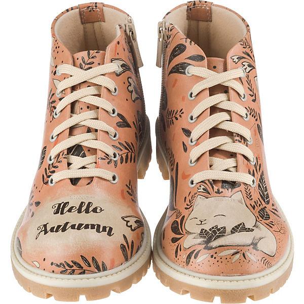 Dogo Shoes  Hello Autumn Schnürstiefeletten  orange xXyqj