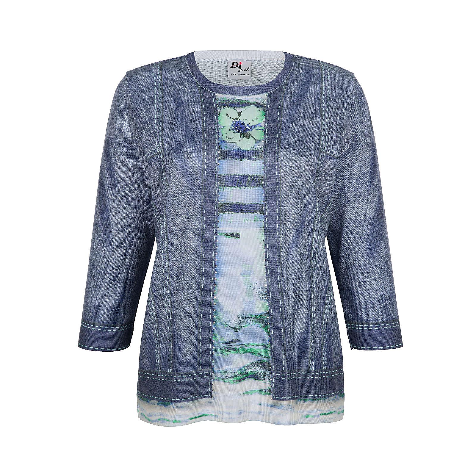 DiStrick 2in1-Pullover mehrfarbig Damen Gr. 38