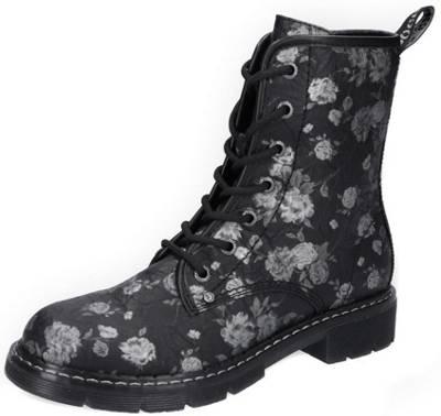 GEMINI Stiefel Boots Leder Schuhe Keil Plateau warm blau NEU 89,95