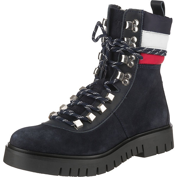 Padded Nylon Lace Up Boot Winterstiefeletten
