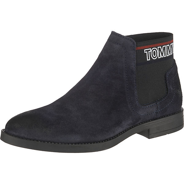 Boot Elastic Chelsea Corporate Dunkelblau Jeans Tommy Boots odBxCe