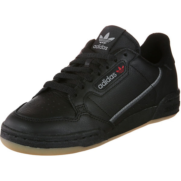 Low Sneakers Schwarz Schuhe Adidas Continental 3 Originals 80 Modell cLqR5jA34