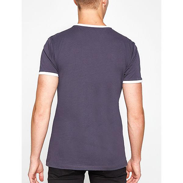 Koton Graublau shirt T T Mit Kontrastierenden shirts Bündchen SUpVzM