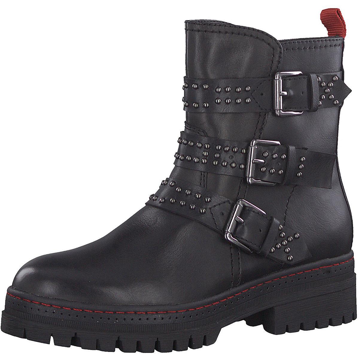 Tamaris, Biker Stiefel, schwarz  Gute Qualität beliebte Schuhe