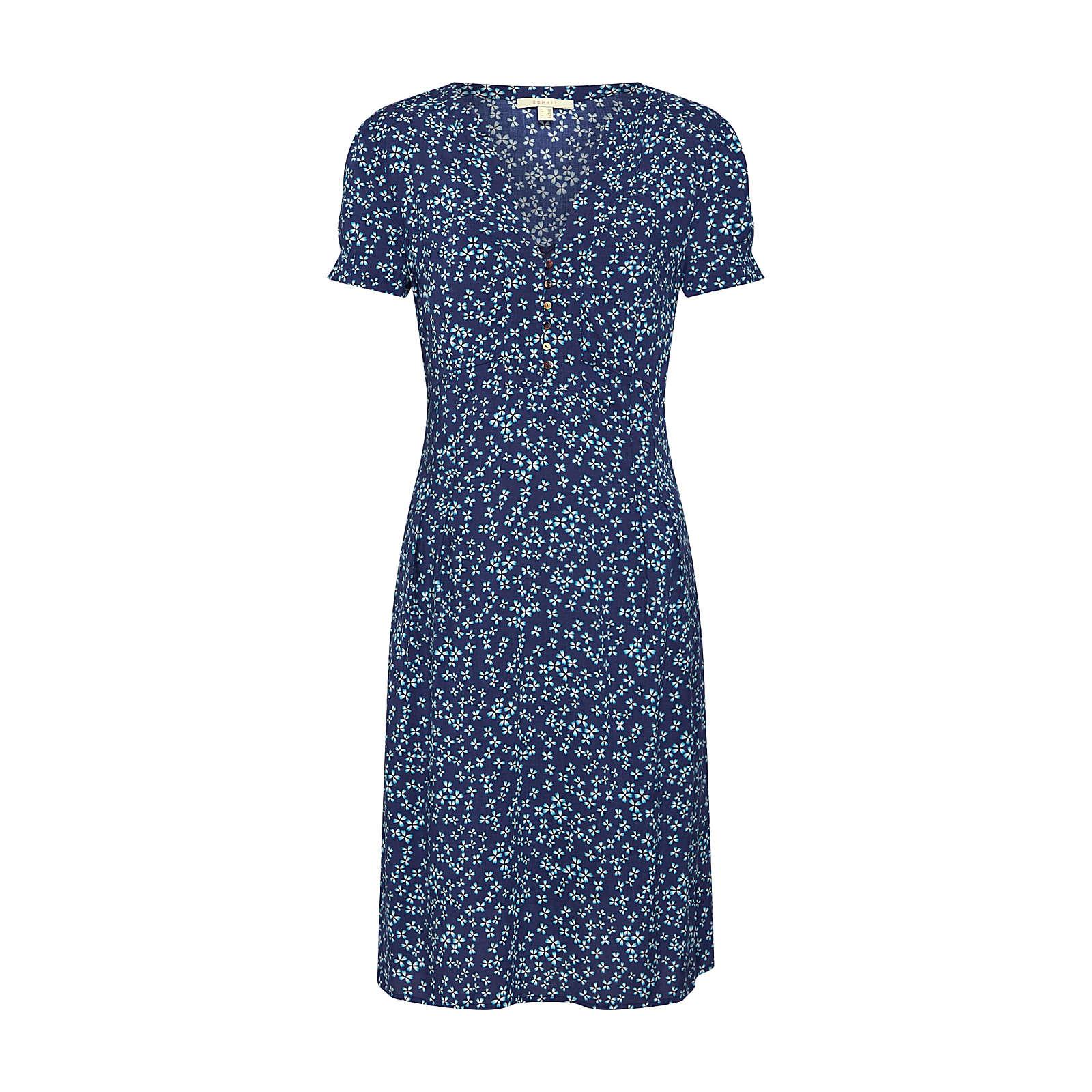 ESPRIT Sommerkleid Sommerkleider blau Damen Gr. 38