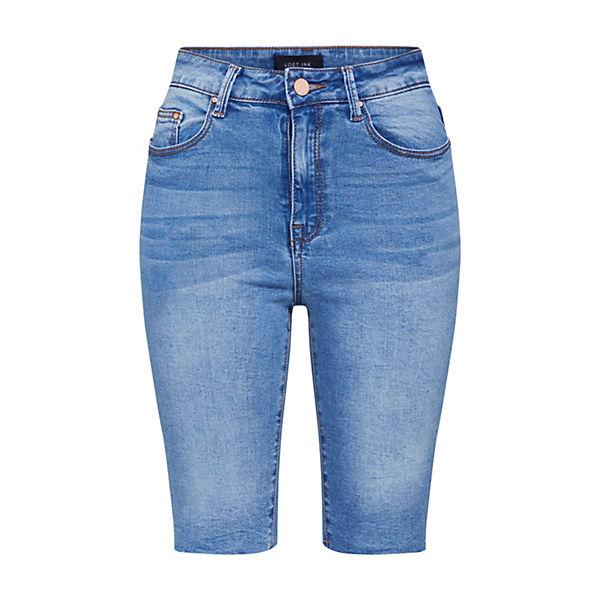 Lost Jeanshosen Denim Ink Short Hr Knee Skinny Blue Jeans T3uF1clJ5K