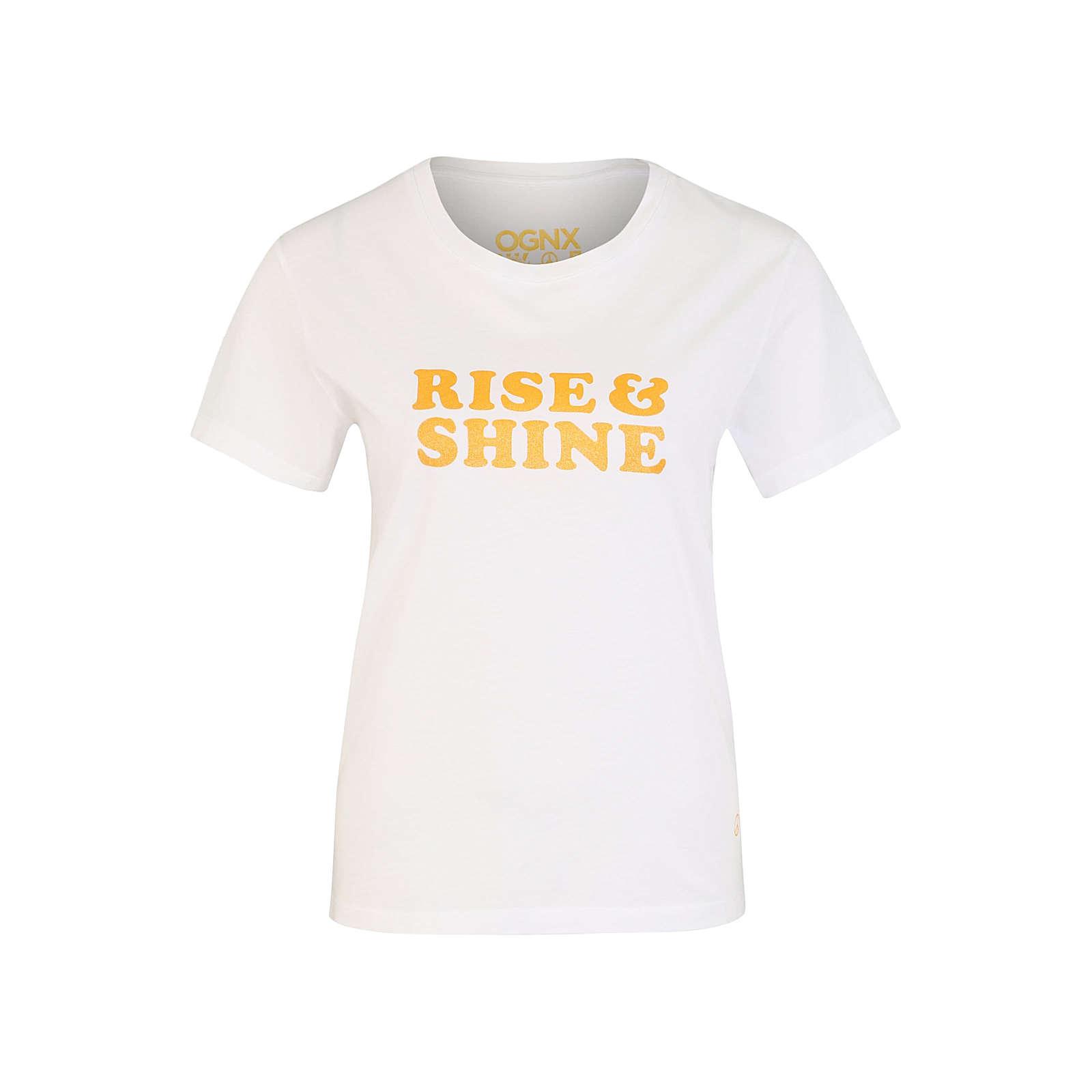 OGNX Funktionsshirt Rise & Shine Funktionsshirts weiß Damen Gr. 42
