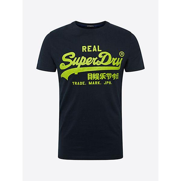 T Lite Shirt Neon Neongelb Vintage Superdry shirts Logo zMqUpVS