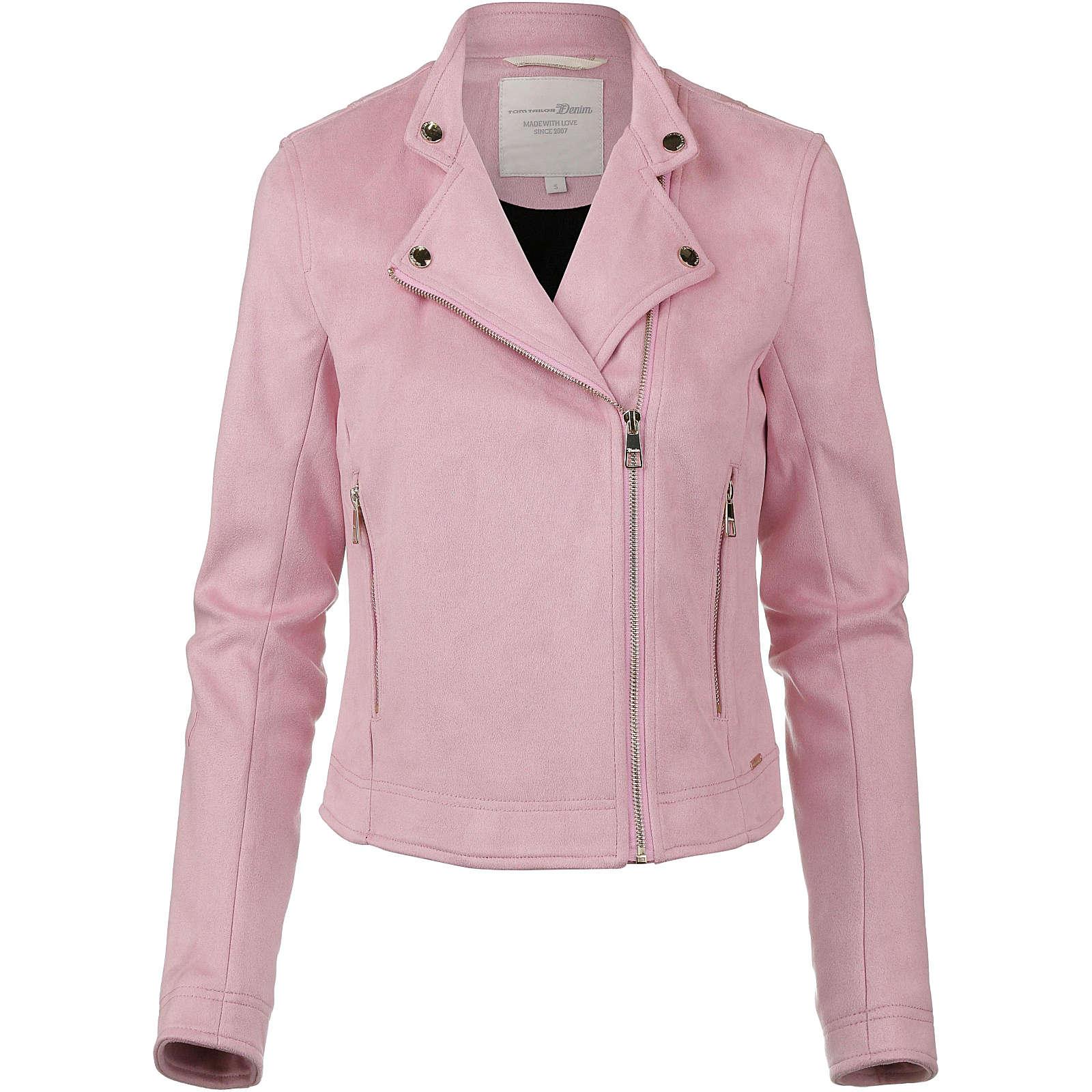 Tom Tailor Denim Bikerjacke Sweatblazer rosa Damen Gr. 40