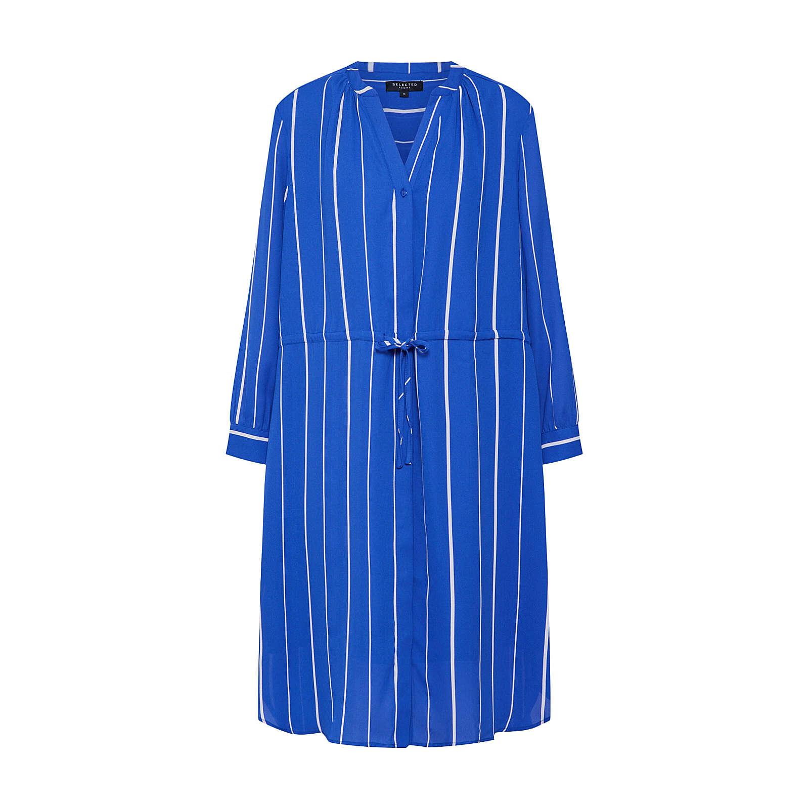 SELECTED FEMME Blusenkleid DAMINA Blusenkleider weiß Damen Gr. 36