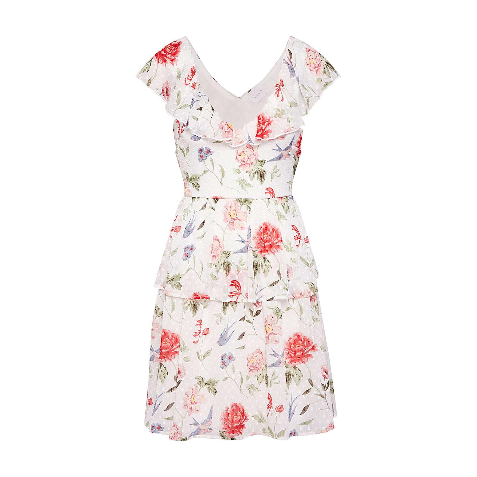 VILA Sommerkleid Sommerkleider rosa Damen Gr. 36