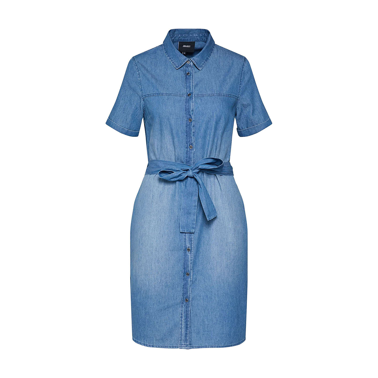 OBJECT Kleid CAMILLA Jeanskleider blue denim Damen Gr. 38