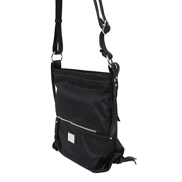 Schwarz Umhängetasche Handtaschen Nylon Elin Crossbag Tom Tailor eCoWQrxdB