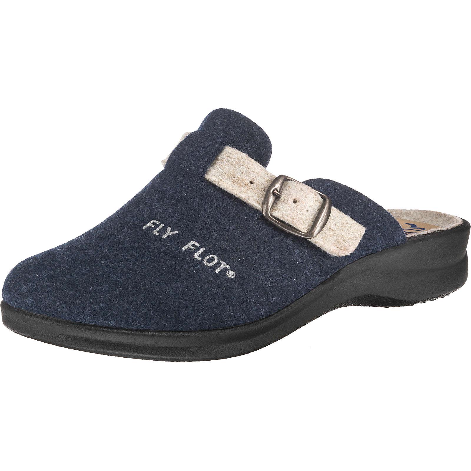 FLY FLOT Pantoffeln blau Damen Gr. 36