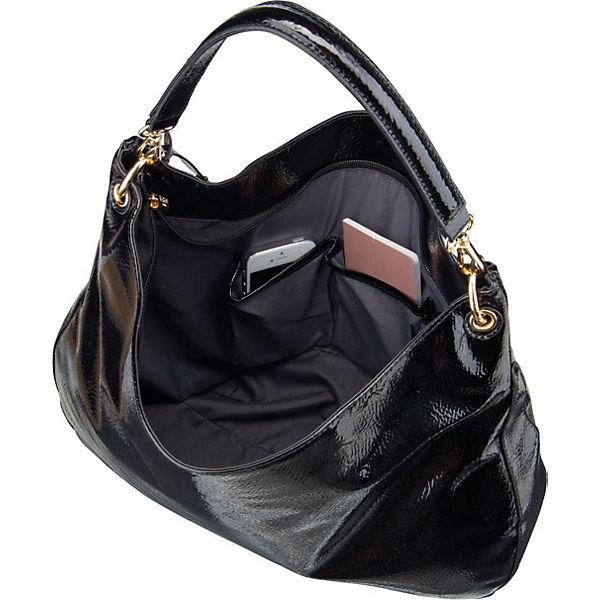 Bel 2158 LCredi Handtasche Handtaschen credi Schwarz L KFcTl13J