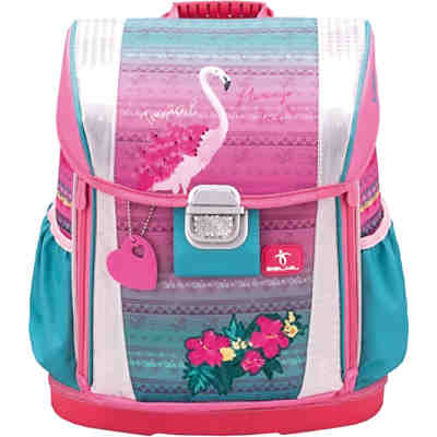 Schulranzenset Customize me Pink Flamingo, 4-tlg.