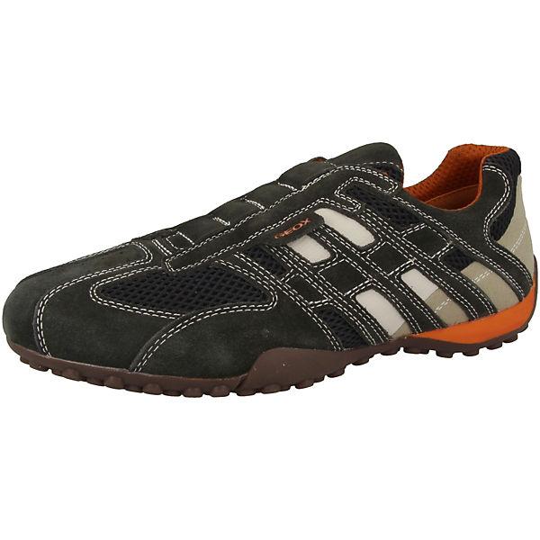 Grau Snake Schuhe U Sneakers Low Geox L nmNPv8y0wO