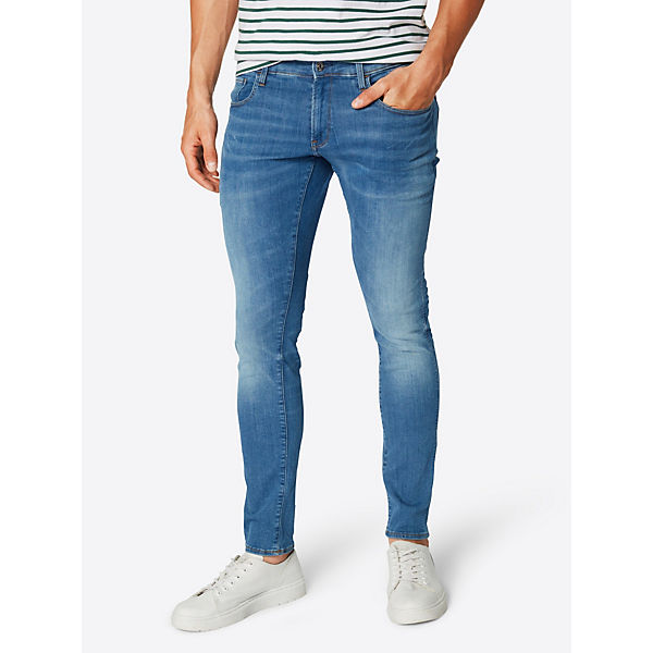 Skinny star Jeans 3301 Jeanshosen Blue G Deconstructed Raw Denim BerdoCxW